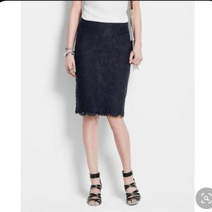 NWT Ann Taylor Baroque Lace Pencil Skirt Size 12